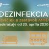Pokračuje dezinfekcia zastávok MHD v Žiline