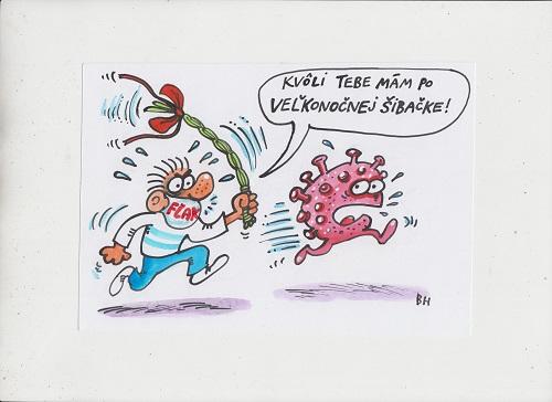 Karikaturista Bruno Horecký: Humorom proti vírusom