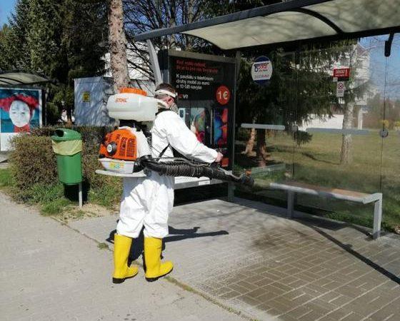 Mesto Turčianske Teplice zabezpečilo dezinfekciu verejných priestorov