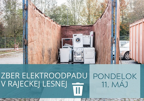 V Rajeckej Lesnej dnes začal zber elektroodpadu