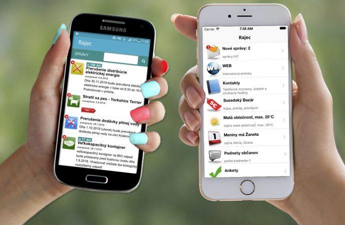 Mesto Rajec spustilo pre svojich občanov mobilnú aplikáciu RAJEC