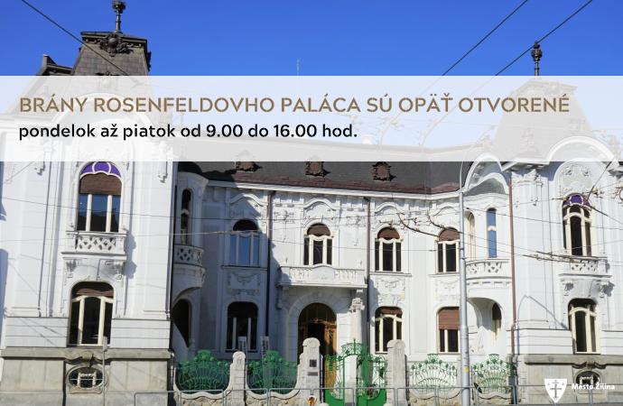 TIK Žilina a Rosenfeldov palác sú opäť prístupné verejnosti