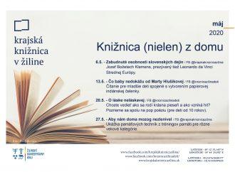 Knižnica (nielen) z domu – virtuálny program na máj