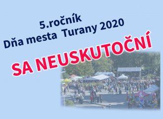 Deň mesta Turany sa tento rok neuskutoční