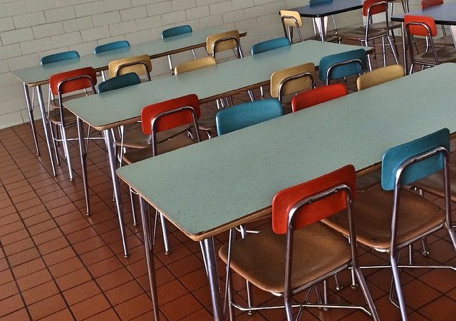 Oznam školskej jedálne v Tepličke nad Váhom