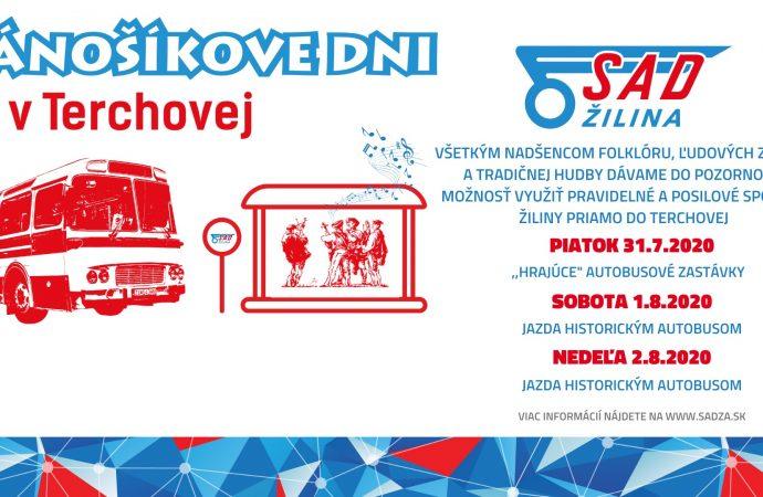 Hrajúce autobusové zastávky a jazda historickým autobusom počas Jánošíkových dní