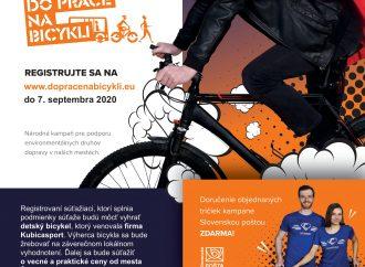 Do práce si v septembri odbicyklujú aj Žilinčania, registrovať sa môžu do 7. septembra