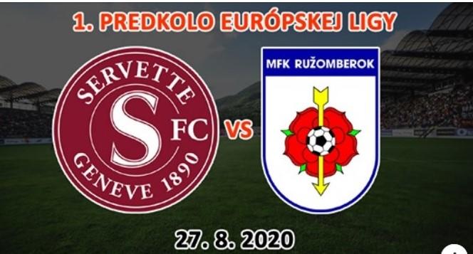 Súperom MFK Ružomberok v prvom predkole Európskej ligy bude švajčiarsky klub Servette FC