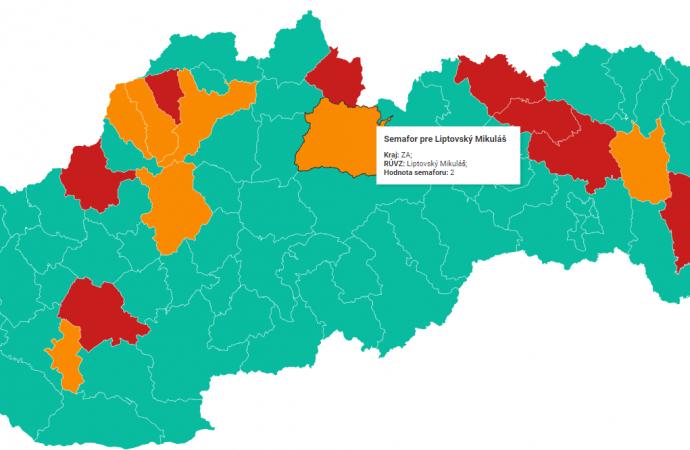 Mesto Liptovský Mikuláš vstupuje do semafóru s oranžovou farbou