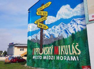 Liptovský Mikuláš zdobí prvý murál s horskou tematikou