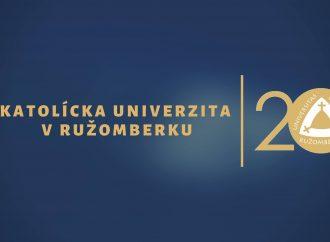 Katolícka univerzita v Ružomberku odložila pokračovanie osláv 20. výročia jej založenia