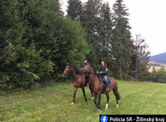 Policajti jazdnej polície vypomáhali kolegom na Orave