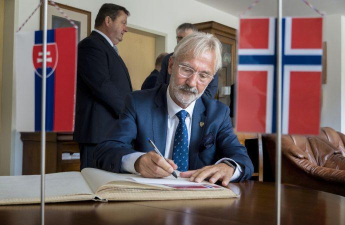 Mesto Ružomberok navštívil veľvyslanec Nórskeho kráľovstva J.E. Terje Theodor Nervik