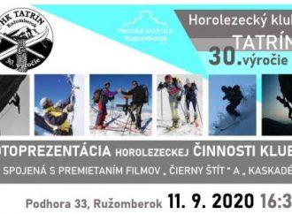 Horolezecký klub Tatrín predstaví 30 rokov svojej činnosti