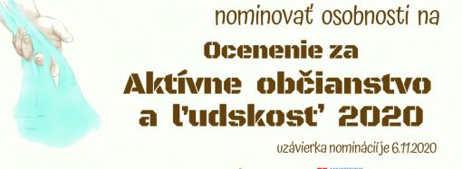 Máte tip na nominantov za aktívne občianstvo a ľudskosť v Žilinskom kraji? Sem s ním…