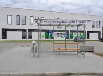 Autobusová zastávka pri MM aréne v Krásne nad Kysucou sa stala realitou