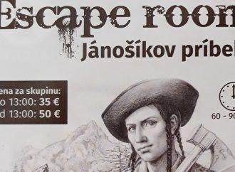 Escape room Jánošíkov príbeh! Takúto novinku má pre vás Turistické centrum Terchová