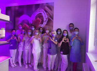Neonatologická klinika Univerzitnej nemocnice Martin sa pri príležitosti Svetového dňa predčasne narodených detí zahalila do purpurovej