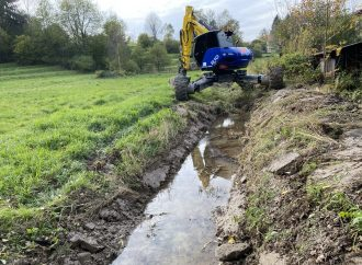 Vo Vysokej nad Kysucou prebehla úprava koryta Gajdicovského potoka