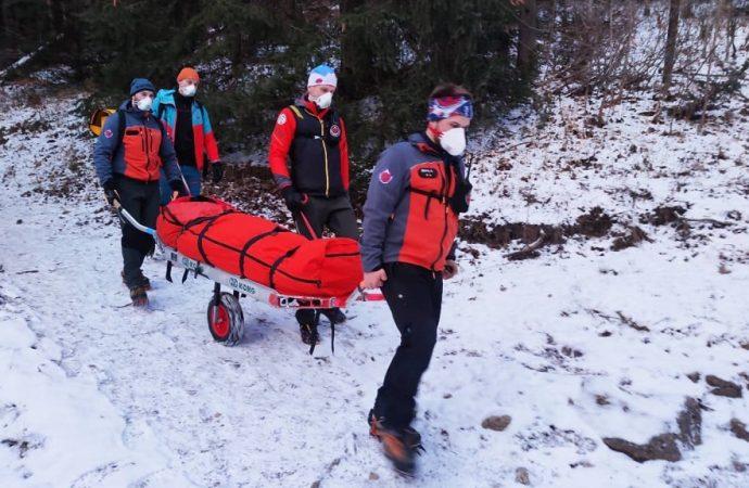 Horskí záchranári pomáhali turistke v Nových dierach