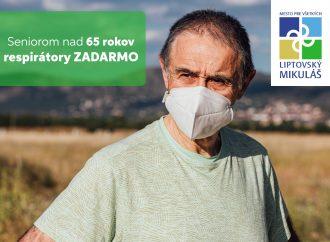 Mesto Liptovský Mikuláš zakúpilo pre seniorov nad 65 rokov respirátory