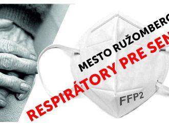 Mesto Ružomberok rozdá FFP2 respirátory seniorom vo veku nad 65 rokov
