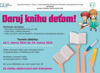 Kysucká knižnica v Čadci vyhlásila výzvu Daruj knihu deťom