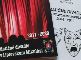 Nová knižná publikácia o matičnom divadle