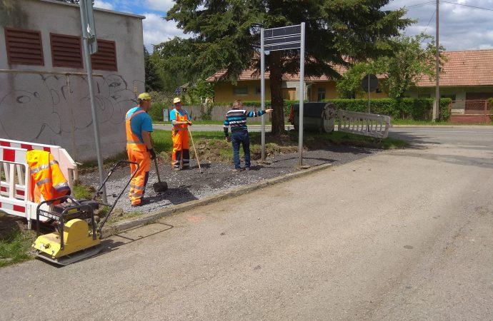 Na Podbrezinách v Liptovskom Mikuláši budujú zamestnanci VPS dve nové kontajnerové stojiská