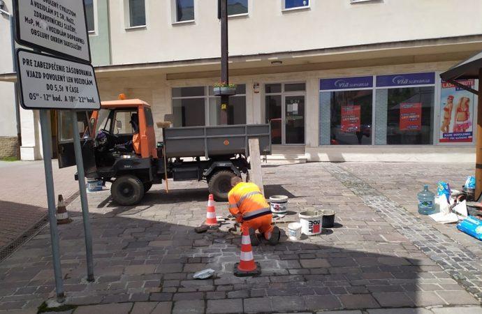 Mesto Liptovský Mikuláš začína s opravami odvodnenia na Námestí osloboditeľov