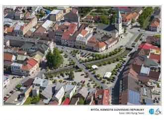 Mesto Bytča a jej okolie budete mať možnosť uvidieť z neba