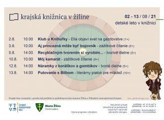 Krajská knižnica v Žiline: program na august I