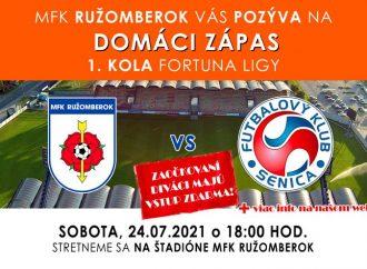 Pozývame vás na zápas MFK Ružomberok vs FK Senica