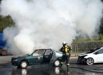 Testovali sme detekčnú schopnosť termovíznych kamier pri požiari automobilu
